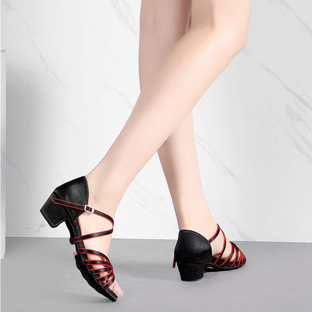 LaoZan Chaussures Danse de Salon Femmes Sandales de Danse pour Salsa Latine Tango Enfant Filles Chaussure a Talon