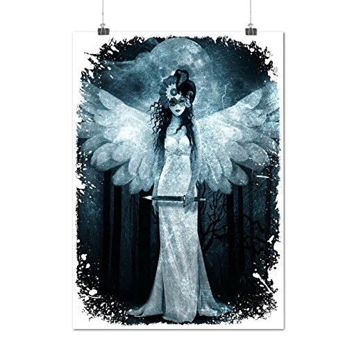 Angel Metal Rock Horror Grim Woman Matte/Glossy Poster A3 (12x17 inches) | Wellcoda