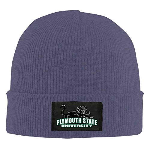 Winter Plymouth State University (2) Navy Unisex Warm Slouchy Beanie For Women's
