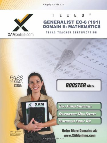TExES Generalist EC-6 191 Mathematics BOOST Edition