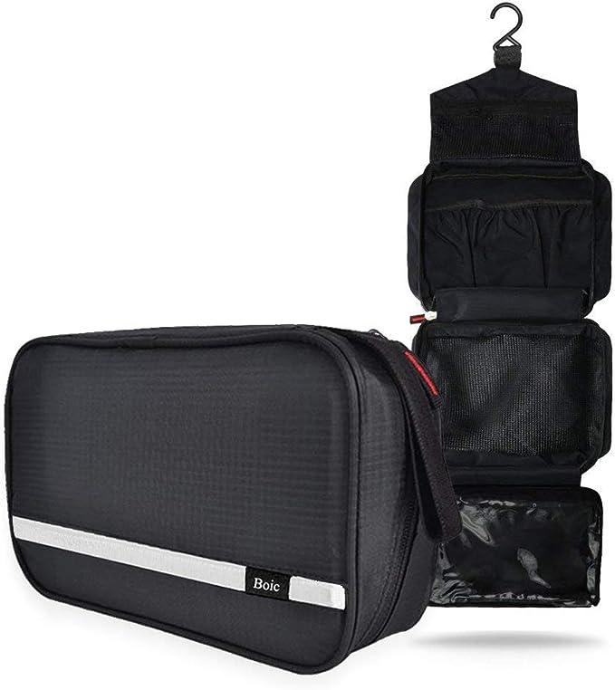 Neceser Viaje Hombre y Mujer, Boic Pequeño Bolsas de Aseo Impermeable, Neceser Maquillaje Pack Neceser Baño Toiletry Kit, Cosmético Organizadores de Viaje Travel Toiletry Bag (Negro): Amazon.es: Equipaje