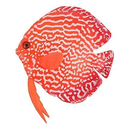 Amazon.com: eDealMax acuario plástico del tanque flotante decoración Ornamental mar de Los pescados del ornamento Rojo: Pet Supplies