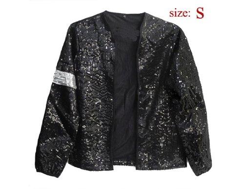 Commemorative Michael Jackson Billie Jean Crystal Style Jacket S (Black) (Michael Jackson Billie Jean Outfit)