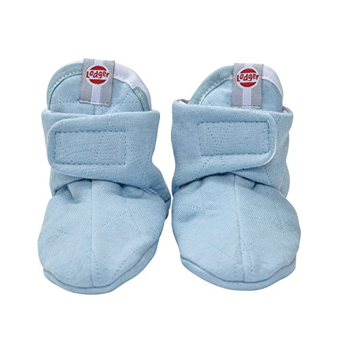 Lodger Cotton Quilt Baby Booties (6-12 Months, Silvercreek) SLCTH6007045 6-12
