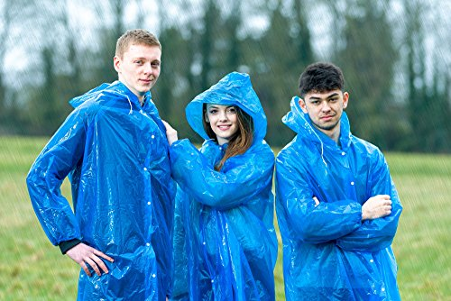 Extra Thick Disposable Emergency Rain Ponchos ~ Premium Quality, Lightweight, Waterproof & Tear Resistant ~ For Hiking, Tours, Sightseeing, Theme Parks, Festivals & More by KeepDry! by KeepDry! (Image #6)