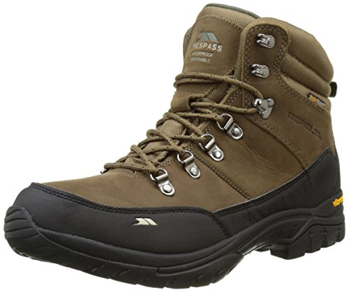 Trespass Carmack, Zapatos de High Rise Senderismo para Hombre Marrón (Cocoa)