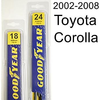 Amazon.com: 2002-2008 Toyota Corolla CE Replacement Wiper Blade Set ...