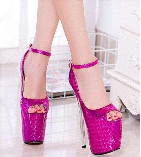 Plate pour à de forme PINK club Sangle et Pompes Talon femmes 41 xie aiguille 35 Chaussures sandales Des Fête Taille cheville soirée EU40 5HFxz77wq