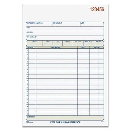 Adams Carbonless 3-part Sales Order Books TC3705