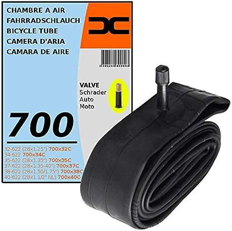 INNER TUBE 700x32C 40C SCHRADER VALVE TYPE 35mm BICYCLE TYRE MTB 32//40-622