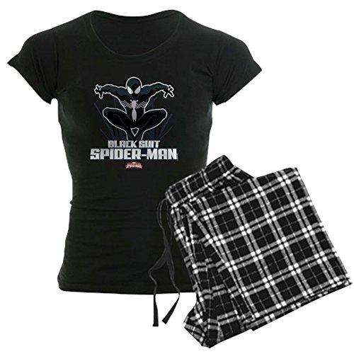 CafePress - Black Suit Spiderman - Womens Novelty Cotton Pajama Set, Comfortable PJ Sleepwear
