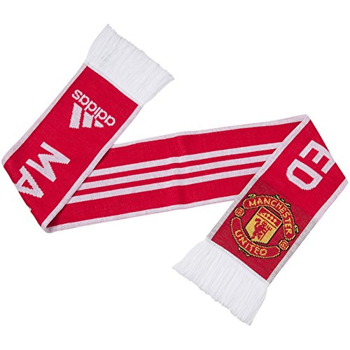 Adidas Manchester United Scarf Red/White - Manchester United Stripe