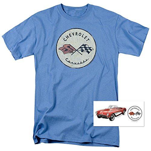 Popfunk Chevy Corvette Convertible Vintage Logo GM Car T Shirt & Stickers (XXX-Large)