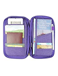Travel Wallet Passport Holder Wallet with Wristlet For Men and Women Travelling (purple)