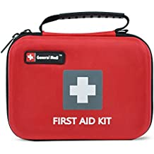 First Aid Kit,210 Pieces Survival Kit Bag - Includes Instant Cold Pack,Thermometer,Scissors,Bandages,Whistle for Travel, Home, Office, Vehicle,Camping, Workplace & Outdoor (Red)