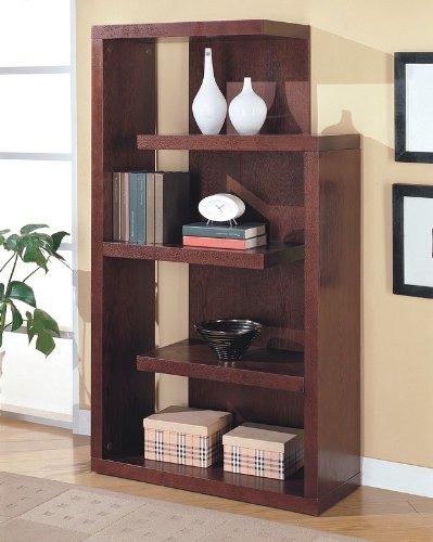 Cappuccino-Finish-Wood-Storage-Bookcase-Console-Coaster-800256