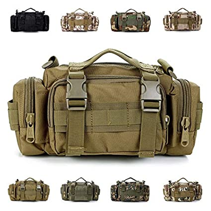 Tactical Molle Waist Bag Camping Hiking Crossbody Army Shoulder Messenger Packs