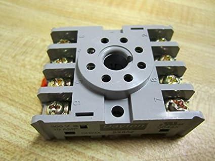 dayton 5x852 socket, relay, 8 pins electronic sockets amazon com  image unavailable