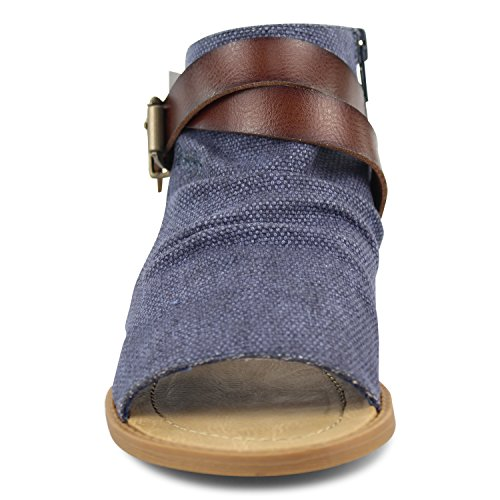 Blowfish Whiskey Women's Dye Rancher Indigo Wedge Cut Sandal Balla YYaxfrq