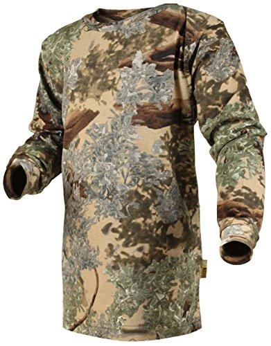 King's Camo Kids Camo Cotton Long Sleeve Hunting Tee, Desert Shadow, Medium ()