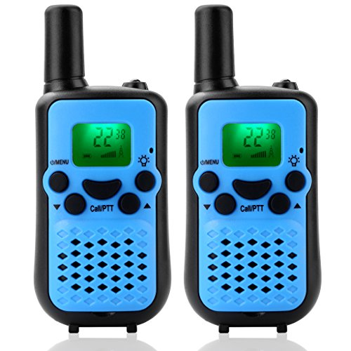 Fun Gears - Kids Blue Walkie Talkies 22 Channel FRS/GMRS 2 Way Radios Up to 3KM Handheld Walky Talky Christmas Gift Toys Phones for Teen Boys and Girls