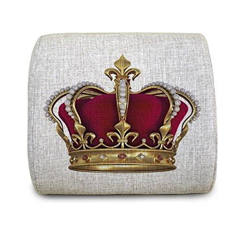 Motolan Kind and Queen Crownポータブル腰椎サポートクッションバッククッション枕のメモリ発泡挿入、12.4