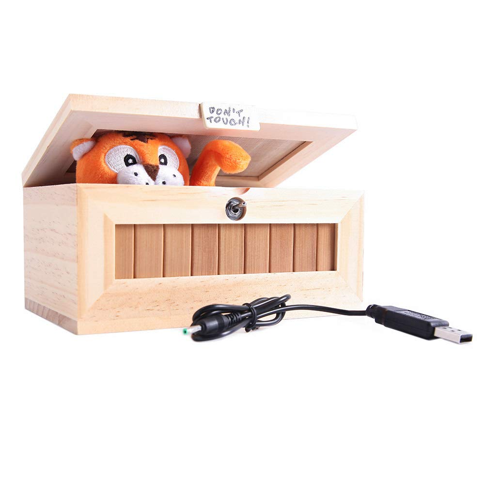 XINHOME Don't Touch Useless Box Leave Me Alone Machine-Decorative&Durable Endless Fun- Cute Tiger&Surprises Most by XINHOME (Image #6)
