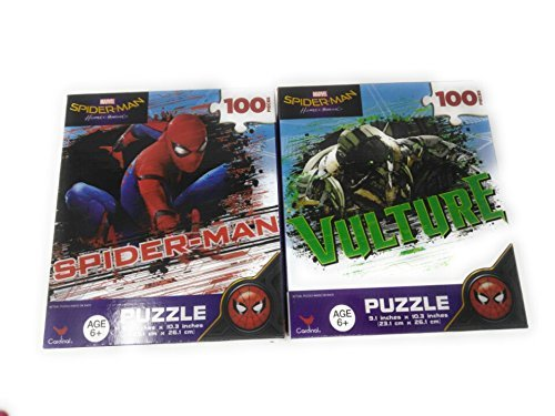 Kids Hot SELLER 200 Piece (2 Pack) Shaped Jigsaw Puzzle Spiderman & Vulture (Homemade Pooh Bear Costumes)
