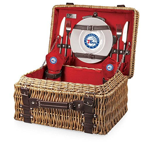 NBA Chicago Bulls Champion Picnic Basket with Deluxe Service for Two, Red