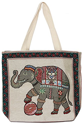 Hippie Big Size Bag Tote E121 Top Handle Bohemian Shoulder Handbag Elephant 5Pq8U