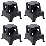 Farm & Ranch 2-Step Plastic Step Stool, Black , PACK OF 4
