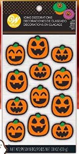 (Pumpkin Jack O'Lantern Faces Icing Decorations 12 Ct Wilton)