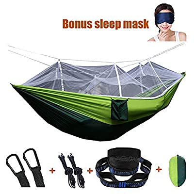 AEETT Camping Hammock with Mosquito Net - Double Hammock&Backpacking Hammock,Parachute Portable Hammocks for Outdoor, Hiking, Campin