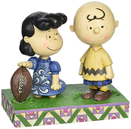 Charlie Brown And Lucy Football - Peanuts by Jim Shore Football Lucy and Charlie Brown Stone Resin Figurine, 5