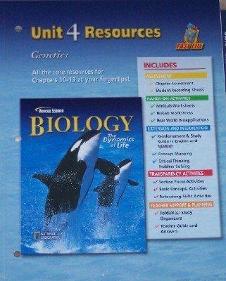 Glencoe Science: Biology, The Dynamics of Life, Unit 4 -  Resources