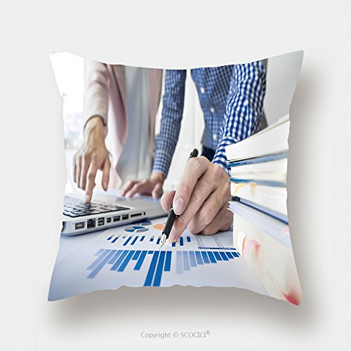 Custom Satin Pillowcase Protector Team Work Process Young Business Managers Crew Working With New Startup Project Labtop On Wood 532254076 Pillow Case Covers Decorative by chaoran