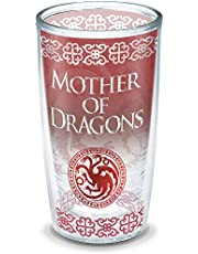 Tervis HBO Game of Thrones - Mother of Dragons Insulated Travel Tumbler with Wrap, 16 oz - Tritan, Clear