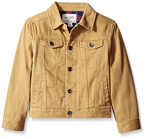 The Children's Place Little Boys' Lined Trucker Jacket, Acorn, Small/5-6