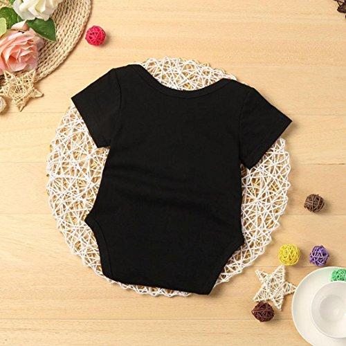 Gotd Infant Kids Baby Boy Girl Romper Bodysuit Jumpsuit Outfits Clothes (3 Months, Black)