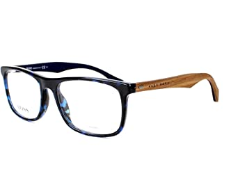 optical frame hugo boss acetate havana blue wood boss 0779 rak