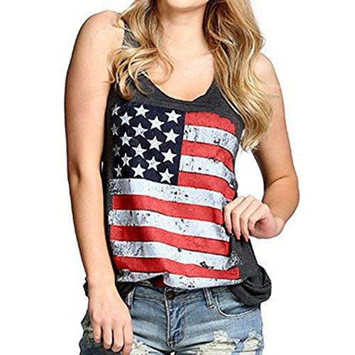Women Summer Tank Top Sale,KIKOY National Flag Print Sexy Vest Blouse T-Shirt