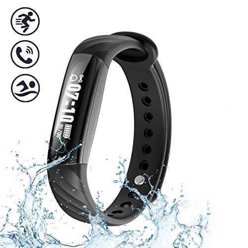 Fitness Tracker, Blutooth Pedometer, Piixy I5A IP67 Waterproof Resistant Bluetooth Smart Bracelet as Step Counter, Activity Tracker, Sleep Monitor, Pedometer, Calorie Counter Watch for Kids Women Men