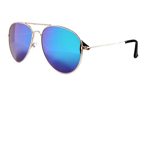 IRIS GLASS Gafas de sol clasicas tipo Ray Ban, POLARIZADAS, Armadura en acero, Cristales de Espejo d...