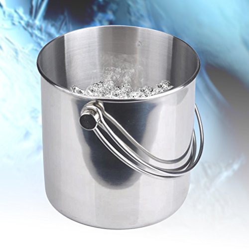 BESTONZON Premium Stainless Steel Ice Bucket with Strainer and Tong Beer Wine Champagne Cooler (2L) by BESTONZON (Image #1)