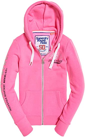 Superdry Sweat Track & Field Zip Track Hot Pink