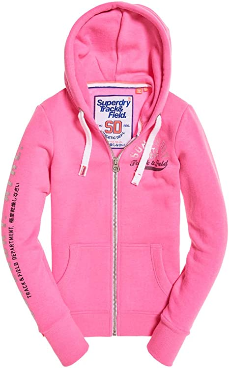 Superdry Track & Field Zip Hoodie at Amazon Women's Clothing