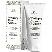 Natural Face Wash and Facial Cleanser - Coconut Based Exfoliating Face Cleanser with Aloe Vera, Papaya Extract, Green Tea for Natural Antioxidant Cleansing Foam, Forest Heal (6.08 Fl Oz.)