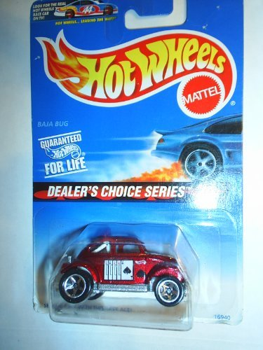 Hot Wheels 1996 Baja Bug Vw Beetle Dealers Choice Series Race Ace Rare Colletcor #3/4 Scale 1/64