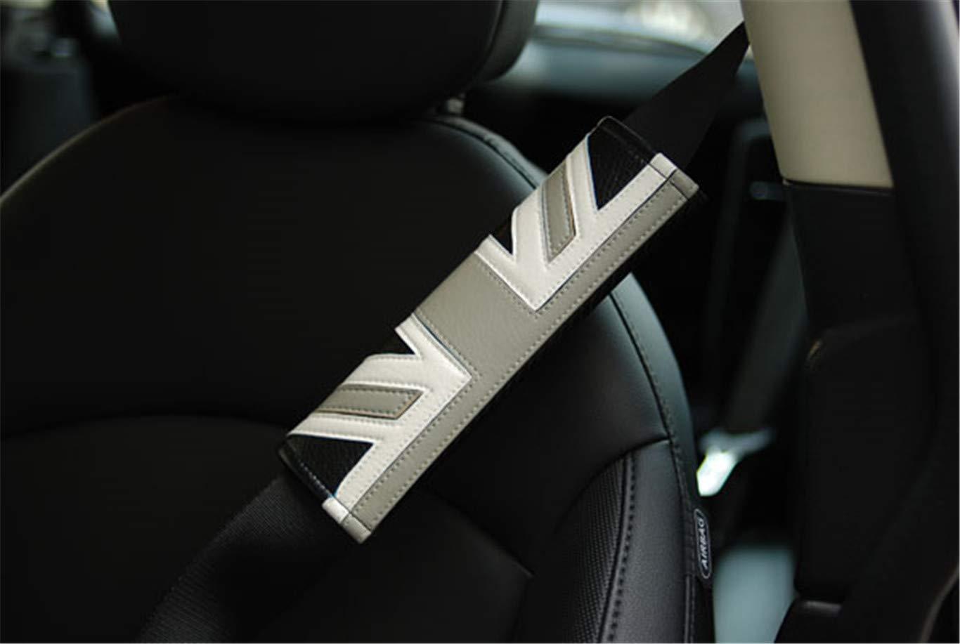 2 Fundas para cintur/ón de Seguridad de Coche para Mini Cooper F54 F55 F56 F57 F60 R55 R56 R57 R58 R59 R60 R61 Hardtop Clubman Hatchback Covertible Roadster Countryman HDX