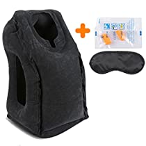 AirGoods Travel Pillow - Multifunctional Inflatable Travel Pillows for Airplanes, Portable Office Napping Pillow